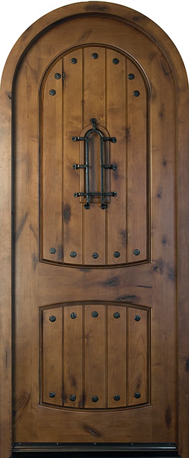 Rustic Knotty Alder Wood Front Door - Single - DB-595 CST