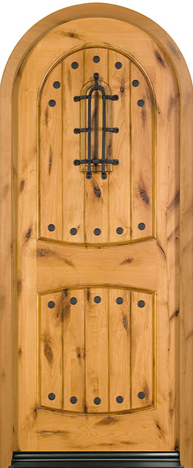 Rustic Series Knotty Alder Wood Entry Door - Single - DB-595