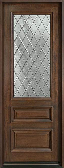 Classic Series Mahogany Wood Entry Door - Single - DB-611TDG