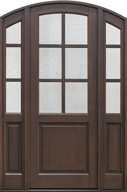 Classic Series Mahogany Wood Entry Door - Single with 2 Sidelites - DB-651PT 2SL