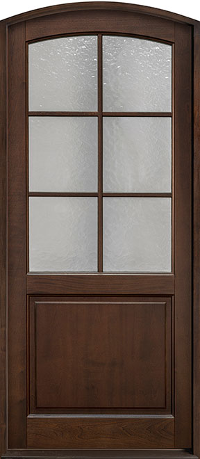 Classic Series Mahogany Wood Entry Door - Single - DB-651PW