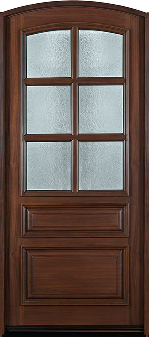 Classic Series Mahogany Wood Entry Door - Single - DB-652W