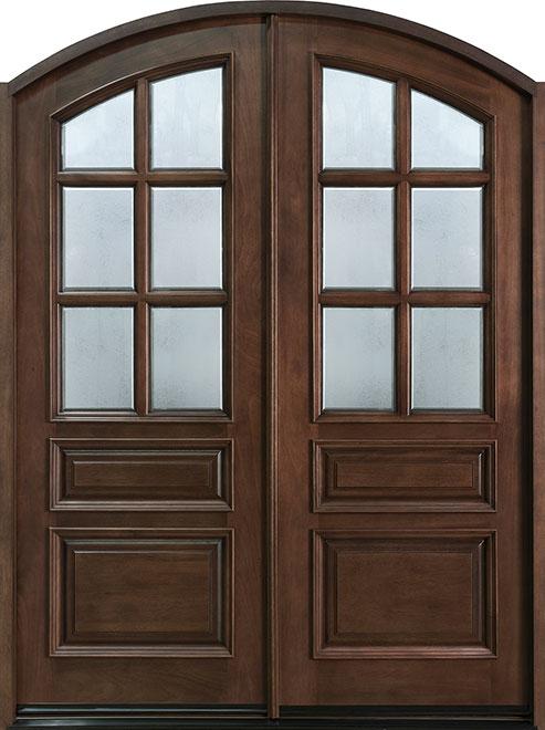 Classic Series Mahogany Wood Entry Door - Double - DB-652 DD