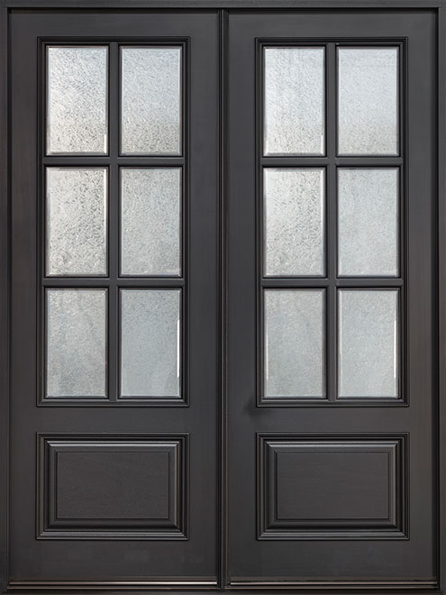 Classic Series Mahogany Wood Entry Door - Double - DB-655 DD