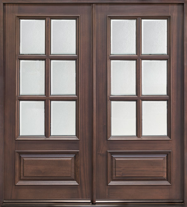 Classic Series Mahogany Wood Entry Door - Double - DB-655S DD