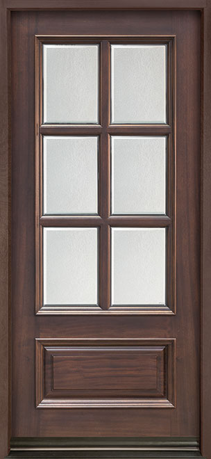 Classic Series Mahogany Wood Entry Door - Single - DB-655