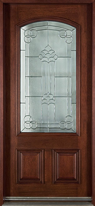 French Mahogany Wood Front Door - Single - DB-701 CST