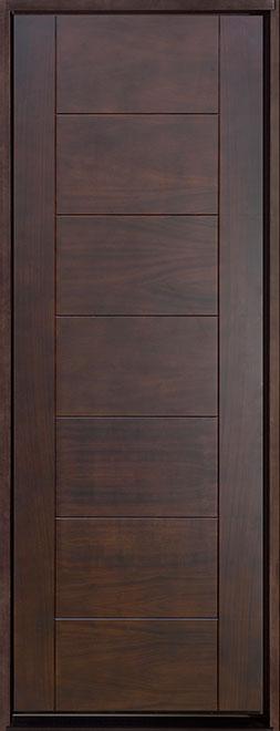 Contemporary Series Mahogany Wood Entry Door - Single - DB-711T