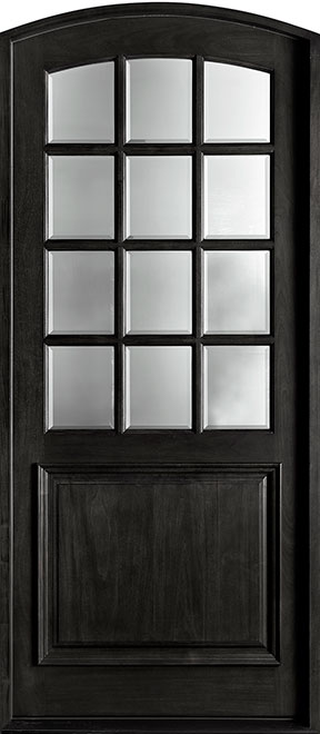 French Mahogany Wood Entry Door - Single - DB-801W