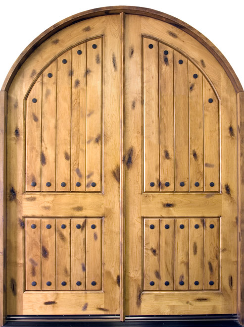 Rustic Series Knotty Alder Wood Entry Door - Double - DB-801 DD