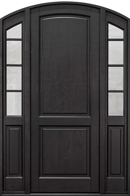 Classic Series Mahogany Wood Entry Door - Single with 2 Sidelites - DB-802PT 2SL