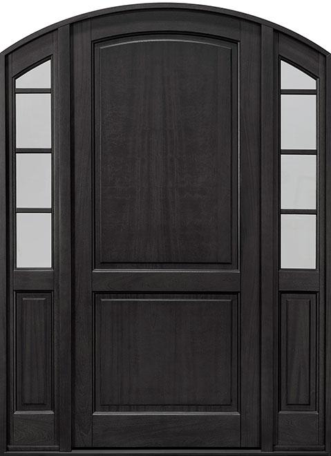 Classic Series Mahogany Wood Entry Door - Single with 2 Sidelites - DB-802PW 2SL