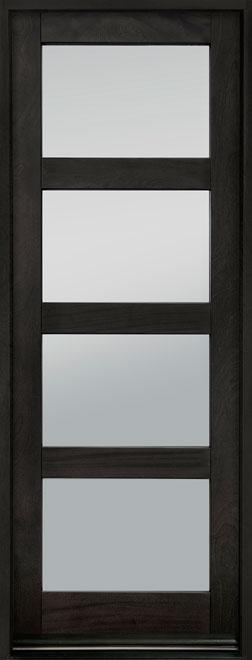 Contemporary Series Mahogany Wood Entry Door - Single - DB-823PTC