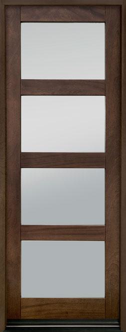Contemporary Mahogany Wood Entry Door - Single - DB-823PTC