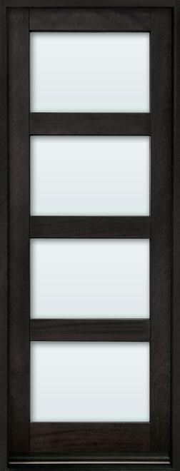 Contemporary Mahogany Wood Entry Door - Single - DB-823PT