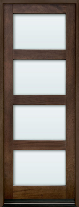 Contemporary Mahogany Wood Entry Door - Single - DB-823PT