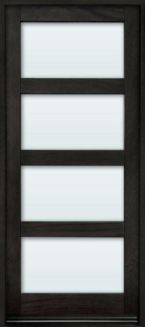 Contemporary Mahogany Wood Entry Door - Single - DB-823PW