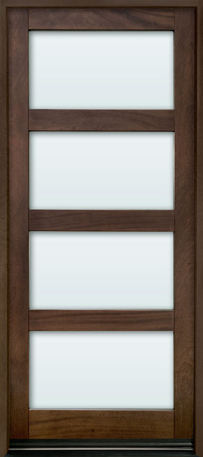 Contemporary Series Mahogany Wood Entry Door - Single - DB-823PW