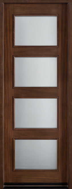 Modern Mahogany Wood Front Door - Single - DB-823T CST