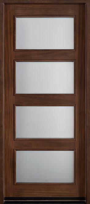 Modern Mahogany Wood Front Door - Single - DB-823W CST