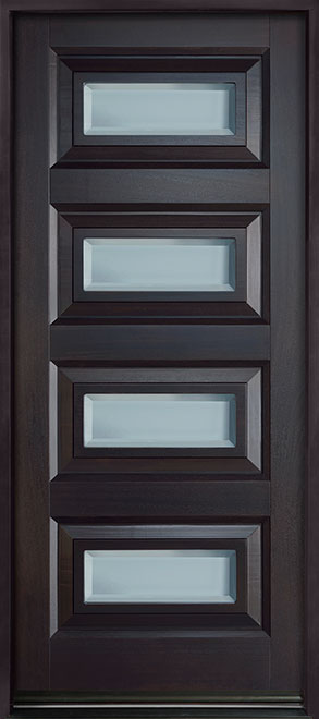Modern Mahogany Wood Front Door - Single - DB-825PW CST