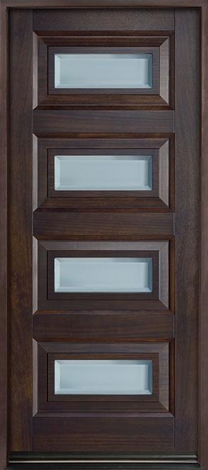 Modern Mahogany Wood Front Door - Single - DB-825PW CST