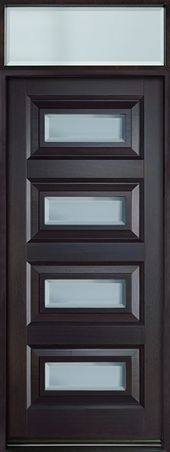 Modern Mahogany Wood Front Door - Single - DB-825PW TR-EN2 CST