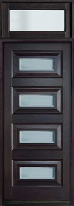 Modern Mahogany Wood Front Door - Single - DB-825PW TR-EN4 CST
