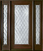 DB-001DG 2SL Mahogany-Walnut Wood Entry Door