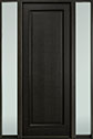 DB-001PT 2SL-F Mahogany-Espresso Wood Entry Door