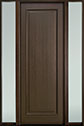 DB-001PT 2SL-F Mahogany-Walnut Wood Entry Door