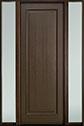 DB-001PT 2SL-F Mahogany-Walnut Wood Door - in-Stock
