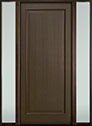 DB-001PW 2SL-F Mahogany-Walnut Wood Entry Door