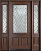 DB-002DG 2SL Mahogany-Walnut Wood Entry Door