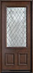 DB-002DG Mahogany-Walnut Wood Entry Door