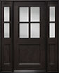 DB-004 2SL Mahogany-Espresso Wood Entry Door
