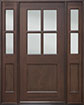 DB-004 2SL Mahogany-Walnut Wood Entry Door