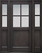 DB-004PS 2SL Mahogany-Espresso Wood Entry Door