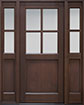 DB-004PS 2SL Mahogany-Walnut Wood Entry Door