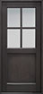 DB-004PS Mahogany-Espresso Wood Entry Door