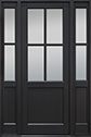 DB-004PT 2SL Mahogany-Espresso Wood Entry Door