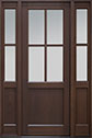 DB-004PT 2SL Mahogany-Walnut Wood Entry Door
