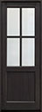 DB-004PT Mahogany-Espresso Wood Entry Door