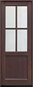 DB-004PT Mahogany-Walnut Wood Entry Door