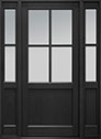 DB-004PW 2SL Mahogany-Espresso Wood Entry Door