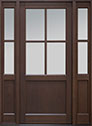 DB-004PW 2SL Mahogany-Walnut Wood Entry Door