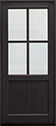 DB-004PW Mahogany-Espresso Wood Entry Door