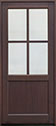 DB-004PW Mahogany-Walnut Wood Entry Door