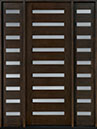 DB-004T 2SL Mahogany-Espresso Wood Entry Door