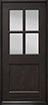 DB-004 Mahogany-Espresso Wood Entry Door